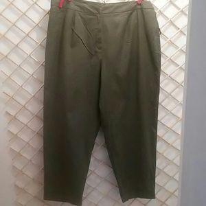 Lauren by Ralph Lauren pants, khaki green, 18W